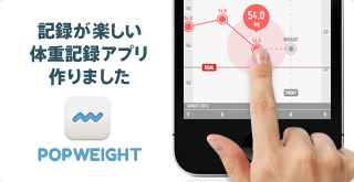 記録が楽しい体重記録アプリ PopWeight