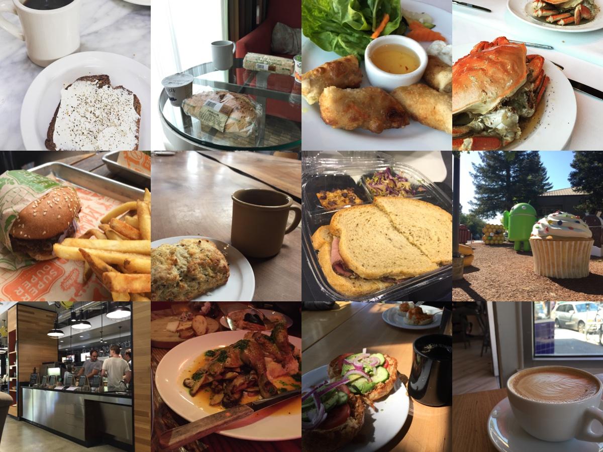 食べ物と飲み物の写真
